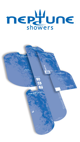 Neptune Showers POS and Packaging