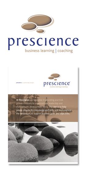 Prescience logo and folder