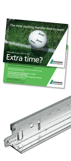 Lafarge T-Bar Invite and product