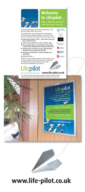 Lifepilot press and rail advertising