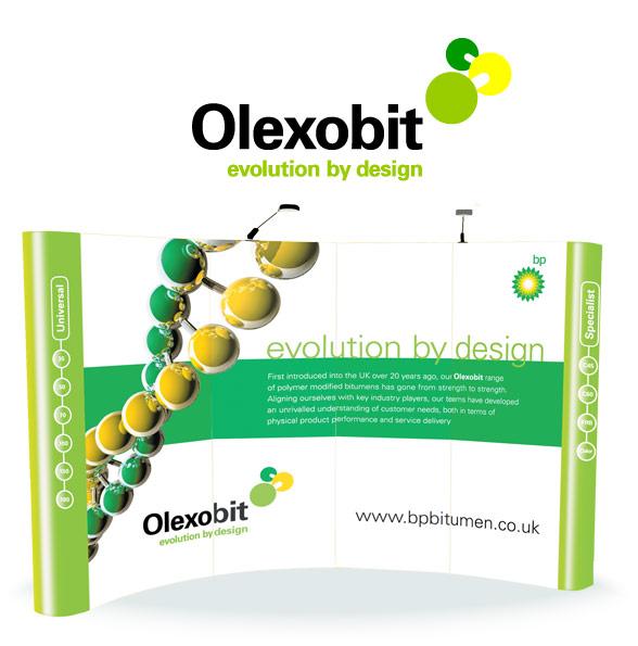 BP Olexobit Identity and Exhibition Panel