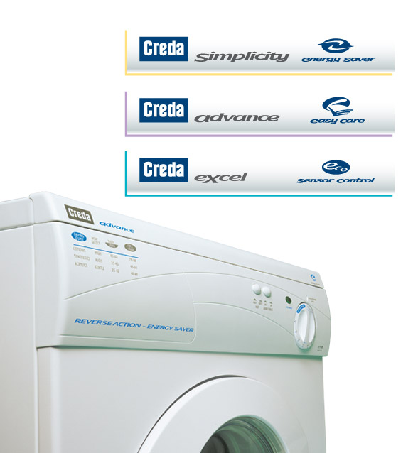 Creda Washing Machine and 3 new logos