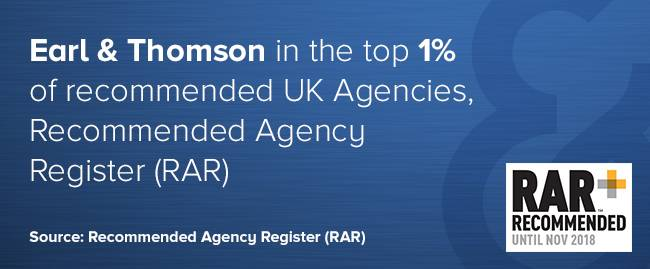 Earl & Thompson in top 1% of recommended agencies - RAR