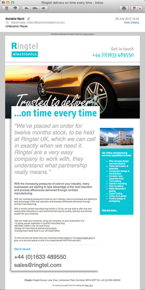 Ringtel Email Campaign